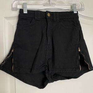 American apparel zipper shorts